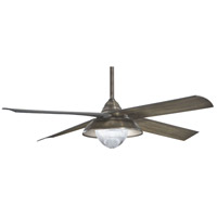 Minka-Aire F683L-HBZ Shade 56 inch Heirloom Bronze with Charcoal Wood Blades Outdoor Ceiling Fan
