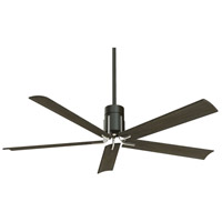 Minka-Aire F684L-MBK/BN Clean 60 inch Matte Black and Brushed Nickel with Urban Walnut Blades Ceiling Fan
