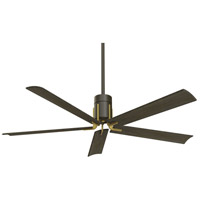 Clean 60 inch Oil Rubbed Bronze and Toned Brass with Urban Walnut Blades Ceiling Fan
