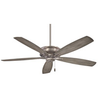 Kafe 52 inch Burnished Nickel with Seashore Grey Blades Ceiling Fan