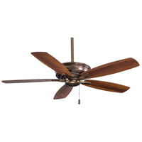 Kafe 52 inch Cognac with Natural Walnut/Dark Walnut Blades Ceiling Fan