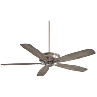 Kafe-XL 60 inch Brushed Nickel with Seashore Grey Blades Ceiling Fan
