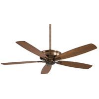 Minka-Aire F696-CC Kafe-XL 60 inch Cognac with Natural Walnut/Dark Walnut Blades Ceiling Fan