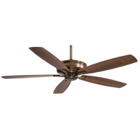 Kafe 60 inch Cognac with Natural Walnut/Dark Walnut Blades Ceiling Fan