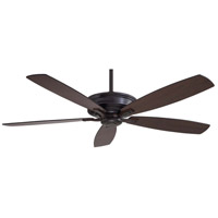 Minka-Aire F696-KA Kafe 60 inch Kocoa with Toned Med Maple/Dark Maple Blades Ceiling Fan in Dark Maple/Toned Med Maple