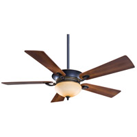 Delano 52 inch Dark Restoration Bronze with Dark Walnut Blades Ceiling Fan in Rustic Scavo