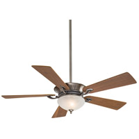 Minka-Aire F701-PW Delano 52 inch Pewter with Natural Walnut Blades Ceiling Fan in Etched Marble