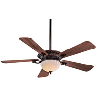 Volterra 52 inch Volterra Bronze with Dark Walnut Blades Ceiling Fan in French Scavo