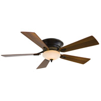 Delano II 52 inch Dark Restoration Bronze with Dark Walnut Blades Flush Mount Ceiling Fan in Rustic Scavo, Flush Mount