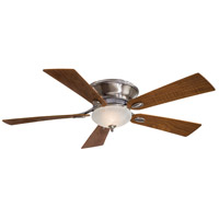 Delano 52 inch Pewter with Natural Walnut Blades Ceiling Fan in Etched Marble, Flush Mount
