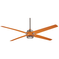 Spectre 60 inch Brushed Nickel and Orange with Orange Blades Ceiling Fan in Brushed Nickel w/ Orange