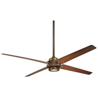 Spectre 60 inch Oil Rubbed Bronze With Antique Brass with Tobacco Blades Ceiling Fan