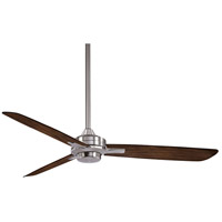 Rudolph 52 inch Brushed Nickel/Medium Maple with Medium Maple Blades Ceiling Fan in Brushed Nickel w/ Medium Maple
