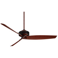 Gilera 62 inch Black/Rosewood with Rosewood Blades Ceiling Fan in Black w/ Rosewood