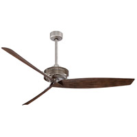 Gilera 62 inch Brushed Steel/Brushed Nickel with Medium Maple Blades Ceiling Fan in Brushed Steel w/ Brushed Nickel