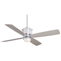 Minka-Aire F734-GL Strata 52 inch Galvanized with Silver Blades Ceiling Fan in Etched Opal