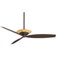 Moda 60 inch Oil Rubbed Bronze with Dark Maple Blades Ceiling Fan in Tea Stain Glass