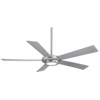 Sabot 52 inch Brushed Nickel with Silver Blades Ceiling Fan