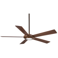 Minka-Aire F745-DK Sabot 52 inch Distressed Koa with Medium Maple/Dark Walnut Reversible Blades Ceiling Fan in Dark Walnut / Medium Maple