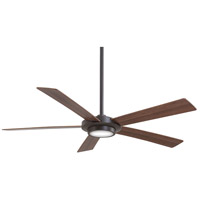 Minka-Aire F745-ORB Sabot 52 inch Oil Rubbed Bronze with Medium Maple/Dark Walnut Blades Ceiling Fan in Dark Walnut / Medium Maple, Frosted/White