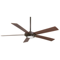 Sabot 52 inch Oil Rubbed Bronze with Medium Maple/Dark Maple Blades Ceiling Fan in Dark Walnut / Medium Maple