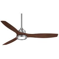 Minka-Aire F749L-BN Skyhawk 60 inch Brushed Nickel with Dark Walnut Blades Ceiling Fan