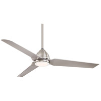Java LED 54 inch Brushed Nickel Wet with Silver Blades Outdoor Ceiling Fan