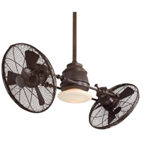 Gyro 42 inch Oil Rubbed Bronze Ceiling Fan in Tinted Opal