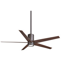 Symbio 56 inch Oil Rubbed Bronze with Medium Maple Blades Ceiling Fan in Tea Stain Glass