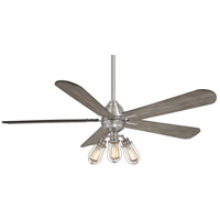 Alva 56 inch Brushed Nickel with Seashore Grey Blades Ceiling Fan