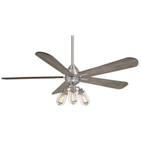 Minka-Aire F852L-BN Alva 56 inch Brushed Nickel with Seashore Grey Blades Ceiling Fan alternative photo thumbnail