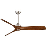 Aviation 60 inch Brushed Nickel with Distressed Koa Blades Ceiling Fan