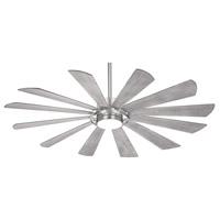 Minka-Aire F870L-BS Windmolen 65 inch Brushed Steel with Ashwood Blades Indoor/Outdoor Smart Fan