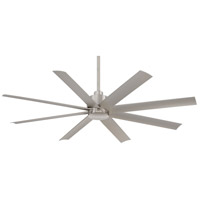Minka-Aire F888-BNW Slipstream 65 inch Brushed Nickel Wet Outdoor Ceiling Fan in Etched Opal