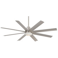 Slipstream 65 inch Brushed Nickel Wet Outdoor Ceiling Fan in Etched Opal
