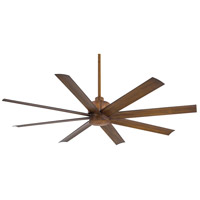 Slipstream 65 inch Distressed Koa Outdoor Ceiling Fan in Tinted Opal