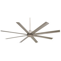Slipstream 84 inch Brushed Nickel Wet Outdoor Ceiling Fan in Etched Opal