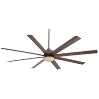 Slipstream 84 inch Oil Rubbed Bronze Outdoor Ceiling Fan in Tinted Opal