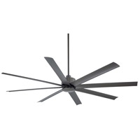 Slipstream 84 inch Smoked Iron Outdoor Ceiling Fan in Etched Opal