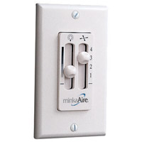 Minka-Aire WC116L Rudolph White Wall Mount Fan Control