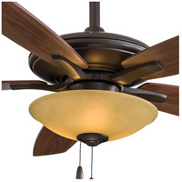 Minka-Aire F522-ORB/TS Mojo 52 inch Oil Rubbed Bronze with Mediium Maple/Dark Walnut Blades Ceiling Fan in Tea Stain Glass Dark Walnut / Medium Maple