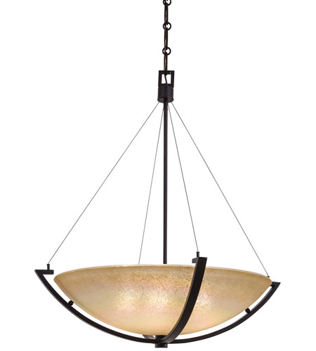 Minka-Lavery Raiden 5 Light Pendant in Iron Oxide 1183-357 photo