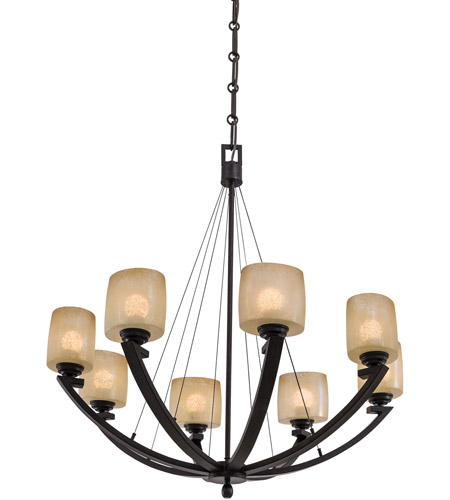 Minka-Lavery 1188-357 Raiden 8 Light 34 inch Iron Oxide Chandelier Ceiling Light photo