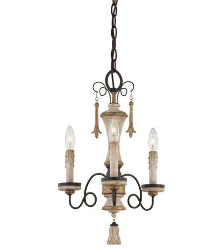 Minka-Lavery Jessica McClintock Accents Provence 3 Light Mini Chandelier in Provence Pantina 1233-580 photo