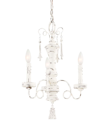 Minka-Lavery Jessica McClintock Accents Provence 3 Light Mini Chandelier in Provencal Blanc 1233-648 photo