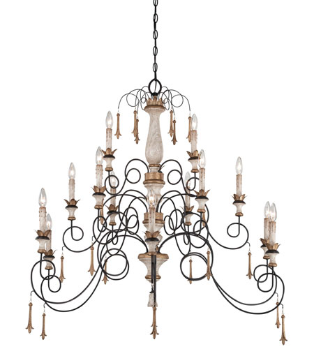 Minka-Lavery Jessica McClintock Accents Provence 15 Light Chandelier in Provence Patina 1235-580 photo