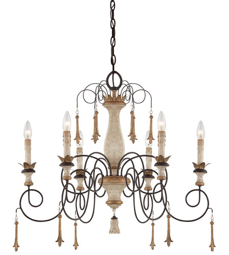 Minka-Lavery Jessica McClintock Accents Provence 6 Light Chandelier in Provence Patina 1236-580 photo