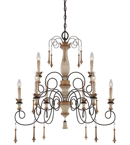Minka-Lavery Jessica McClintock Accents Provence 9 Light Chandelier in Provence Patina 1239-580 photo