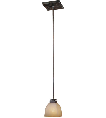 Minka-Lavery Lineage 1 Light Mini Pendant in Iron Oxide 1257-357 photo