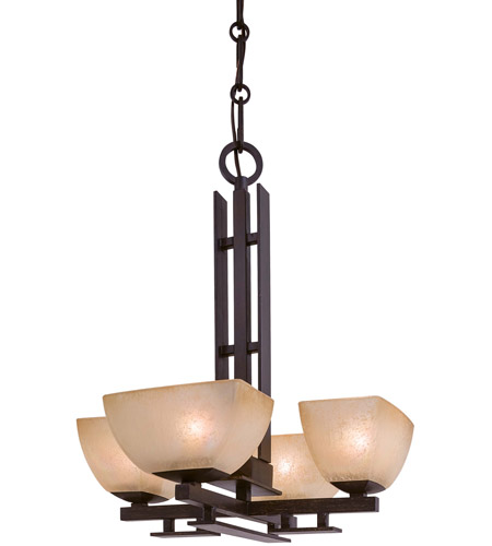 Minka-Lavery 1259-357 Lineage 4 Light 17 inch Iron Oxide Mini Chandelier Ceiling Light photo